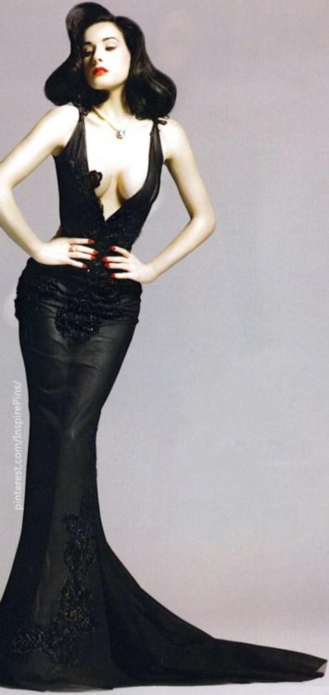 Wedding Dita Von Teese Wedding Dress black wedding dita von teese 2067365 weddbook