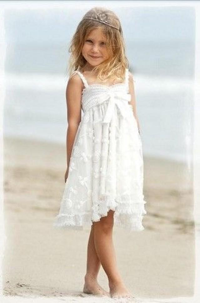 Summer wedding flower girl 2067522 weddbook for Flower girl dress for beach wedding