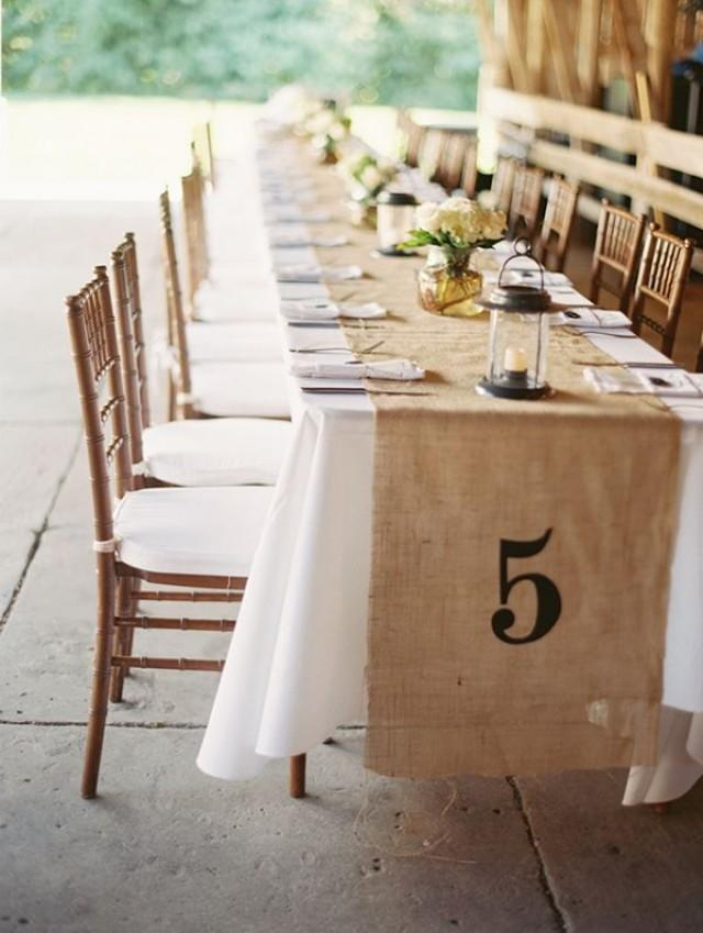rustic wedding burlap table runner 2067635 weddbook. Black Bedroom Furniture Sets. Home Design Ideas