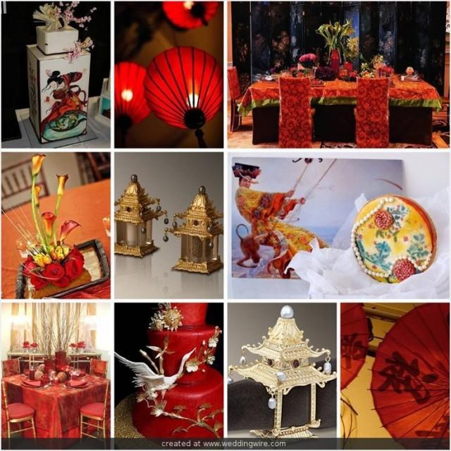 Oriental wedding asian themed decor accents 2067673 for Asian wedding decoration ideas