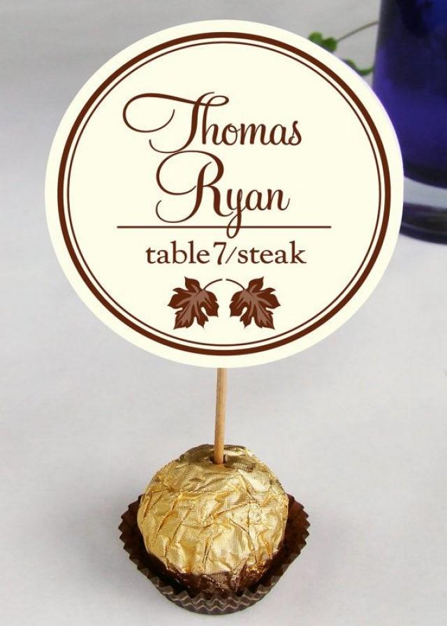Wedding reception ferrero rocher escort cards place for Name place cards wedding