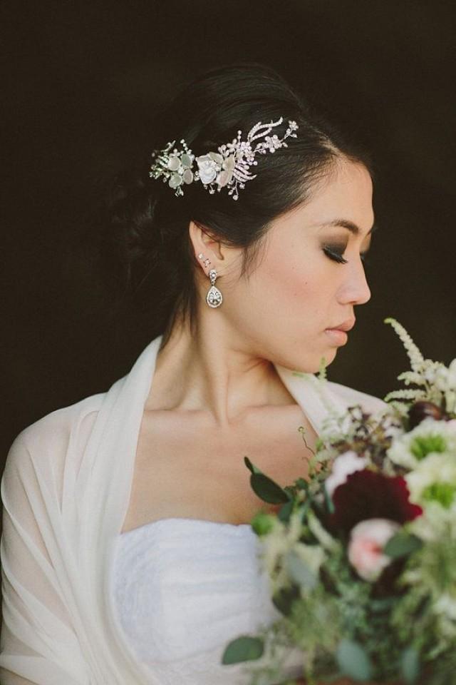 mariage de vigne cheveux strass et de perles keishi piece cheveux fleur floral garden winery. Black Bedroom Furniture Sets. Home Design Ideas