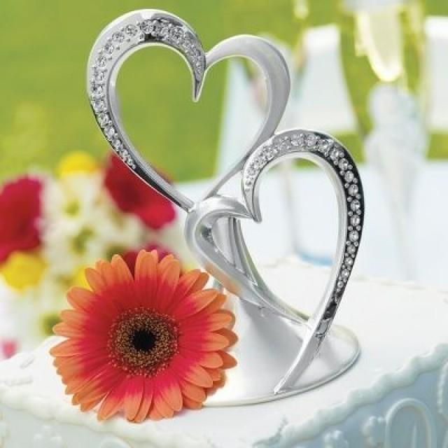 wedding cakes twin hearts cake topper 2068470 weddbook