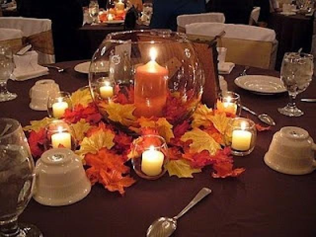 Ideas For Fall Wedding Centerpieces: Romantic Diy Fall Wedding Centerpieces