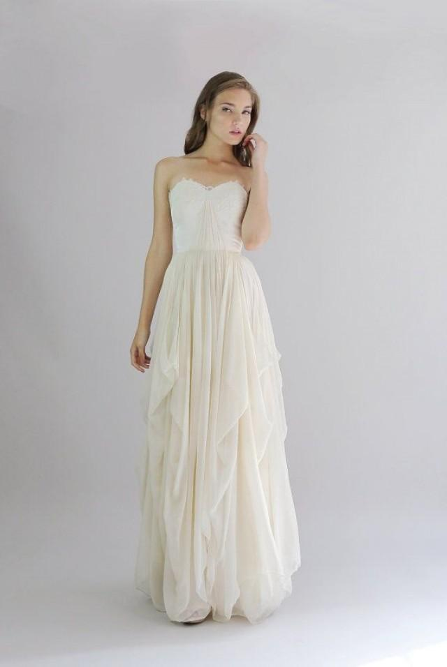 Alice Silk Chiffon Wedding Gown Etsy Exclusive 2068929