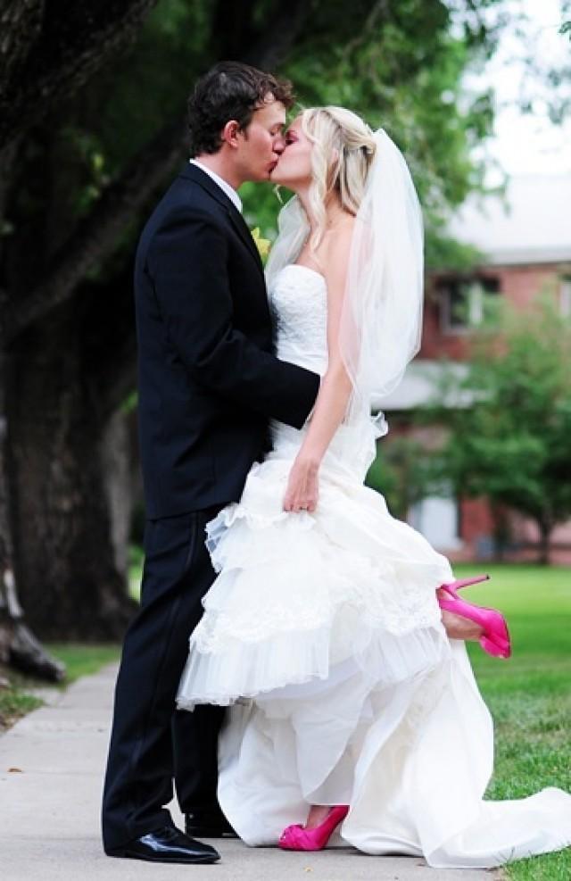 Hot Pink Wedding Photos : Hot pink wedding shoes soooo cute g