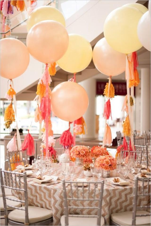 Wedding balloons diy tassel for giant balloon