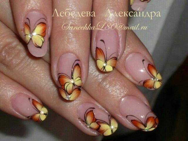 butterfly wedding   cute butterfly nail art 2069725   weddbook