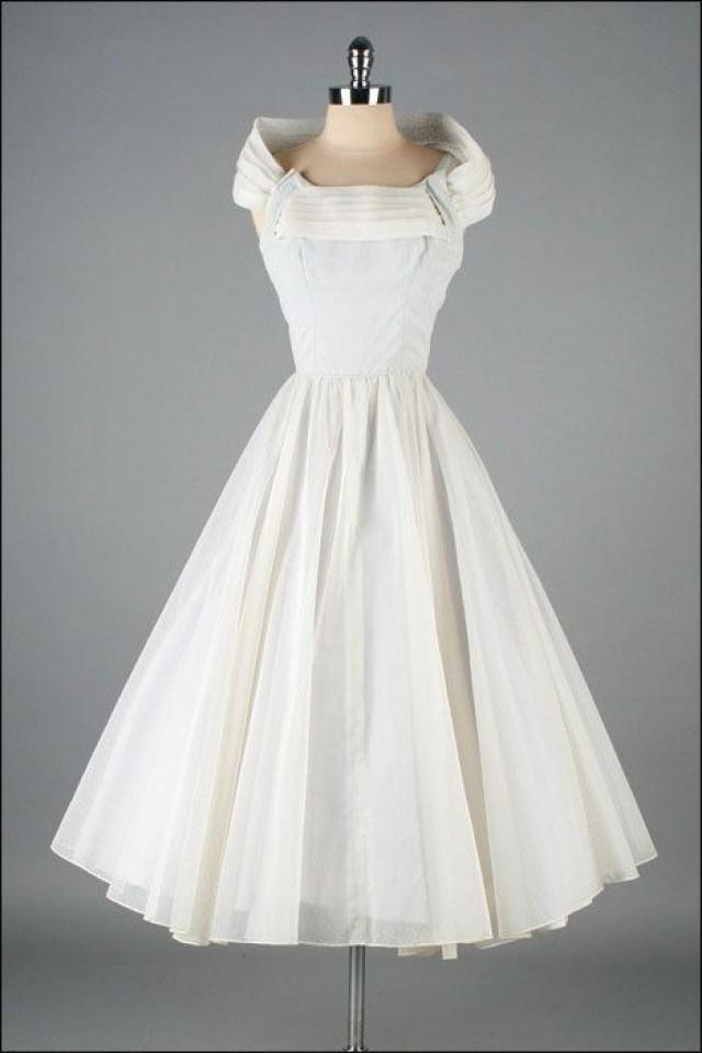 Retro Wedding - Vintage 1950s Dress Swiss Dot #2070385 ...