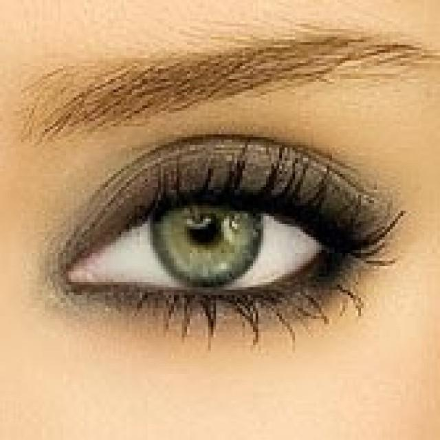 Makeup - Smokey ...Dark Grey Green Eyes