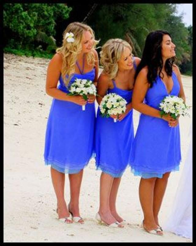 Blue wedding bright blue 2070653 weddbook for Blue beach wedding dresses