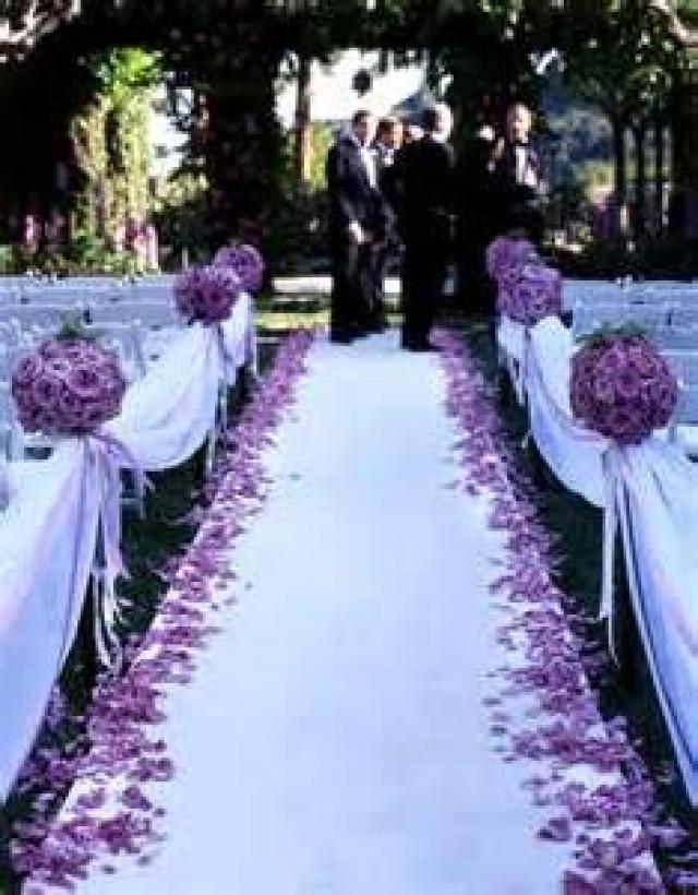 wedding photo - 50 Ft Satin Fabric Wedding Aisle Runners - 22 Colors