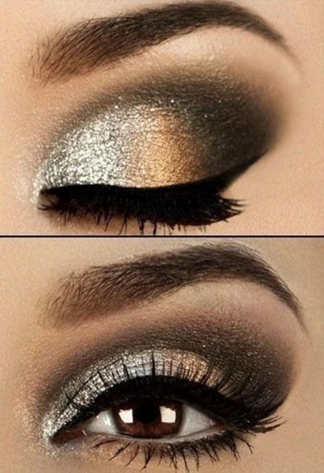 Golden brown eye makeup