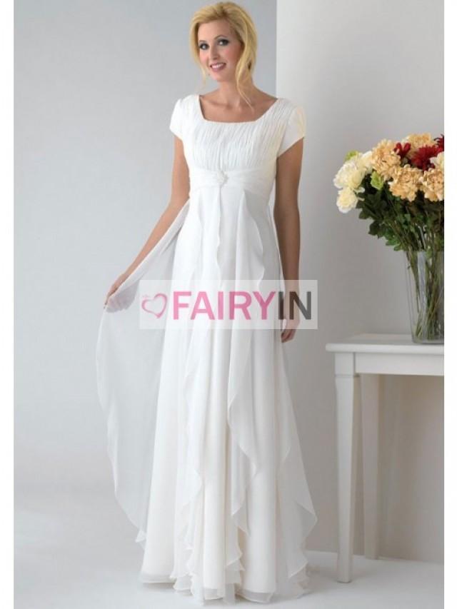 wedding photo - A-Linie Carré-Ausschnitt Abalorionstickerei Gefaltet Brautmutterkleider