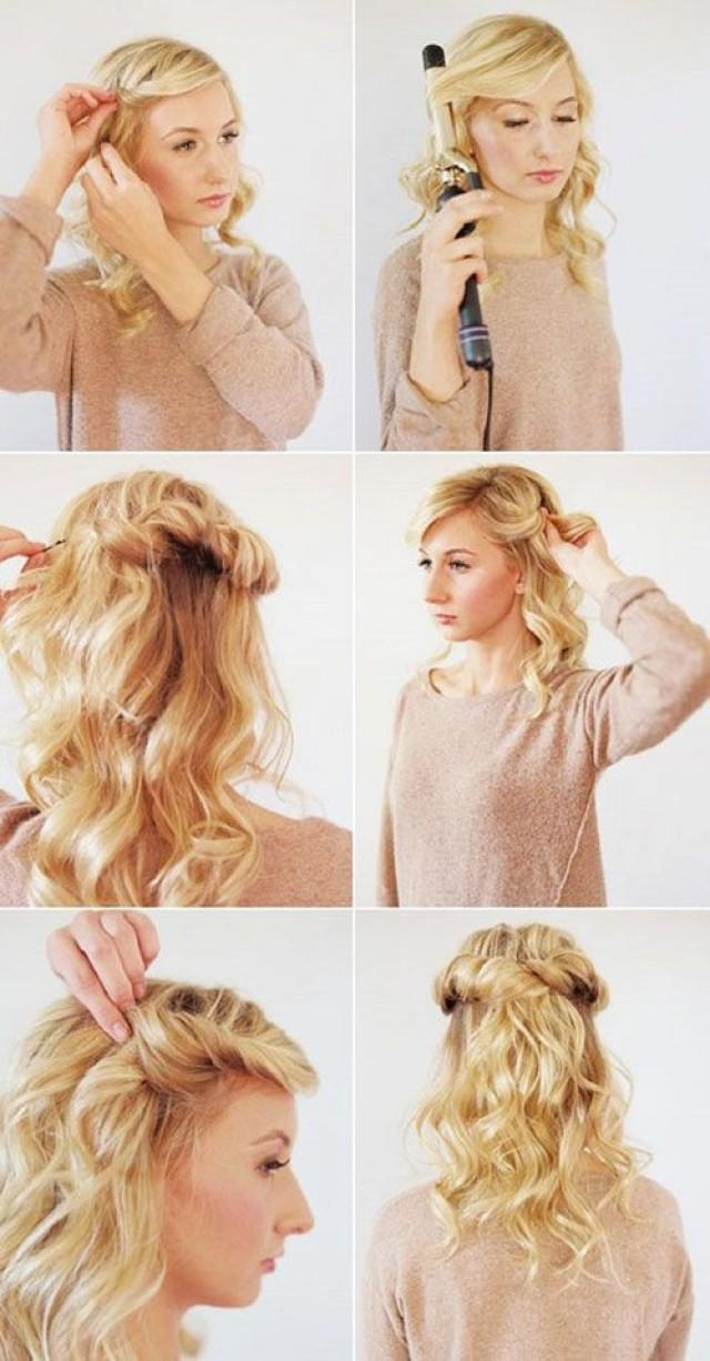 Как в домашних условиях быстро уложить волосы средней длины в домашних условиях