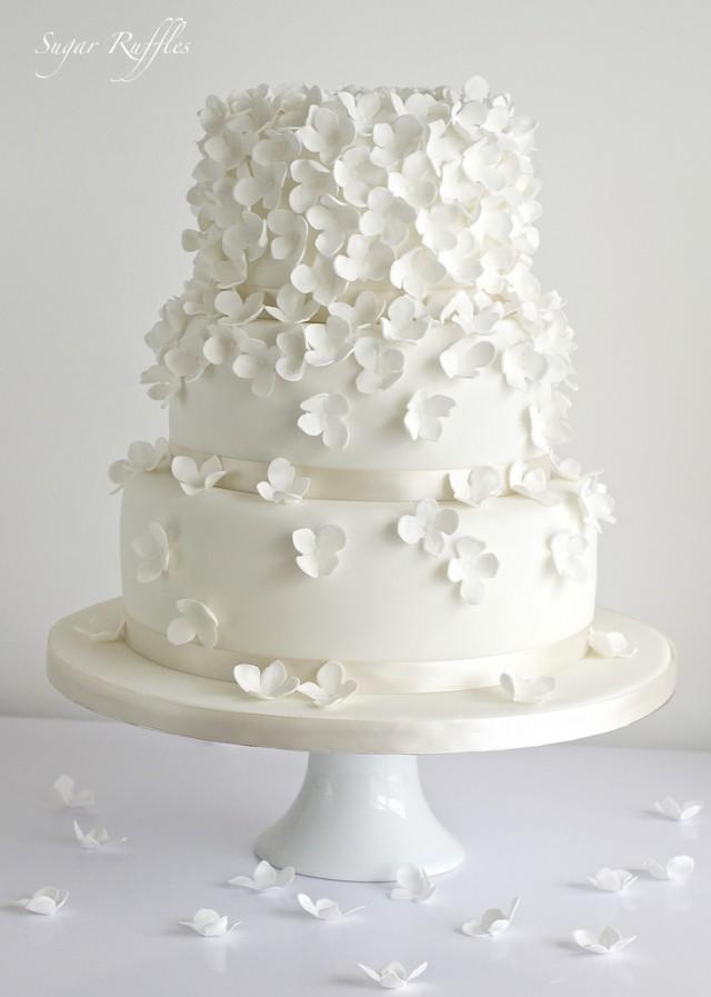 Gâteaux De Mariage - Gâteau De Mariage Dhortensia Cascade #2075659 ...