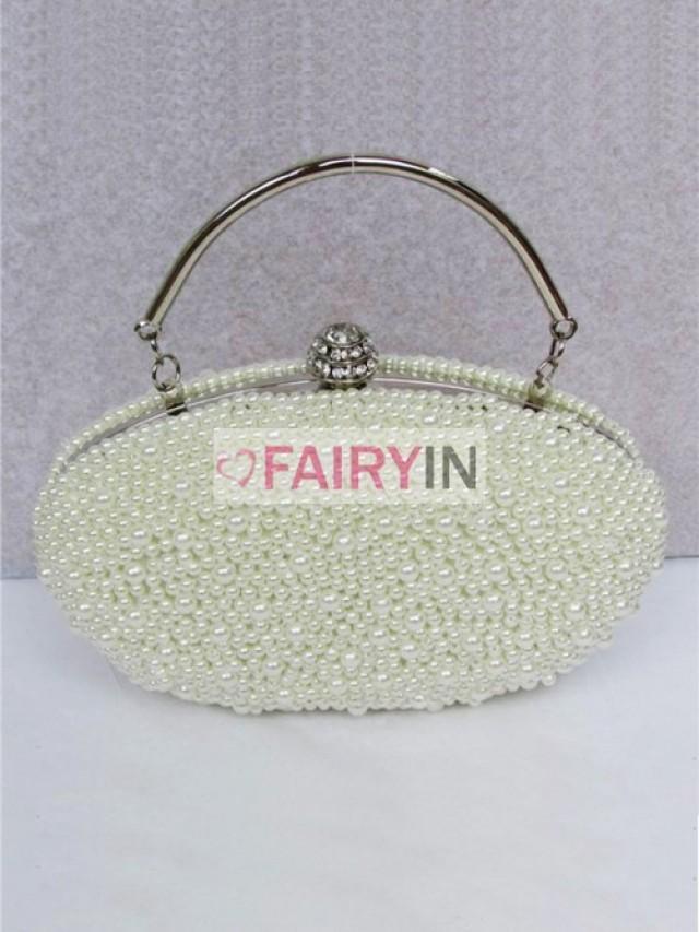 wedding photo - Fairyin Pearls Evening Handbags