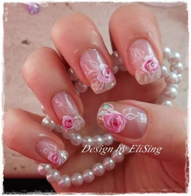 Remarkable Bridal Wedding Nail Art 640 x 657 · 43 kB · jpeg