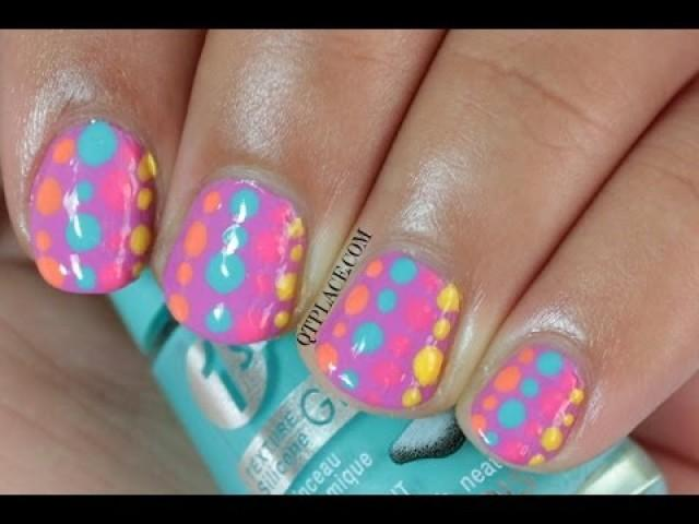 Wedding nail art designs for beginners : Wedding nail designs art for beginners dots nails weddbook