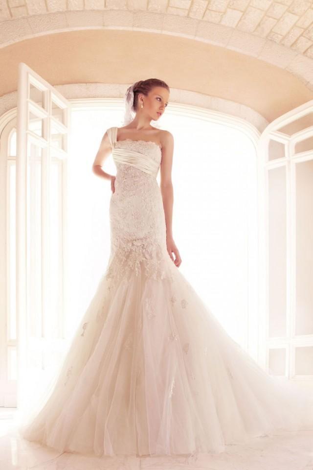 One shoulder strap wedding dress inspiration 2078393 for One strap wedding dress