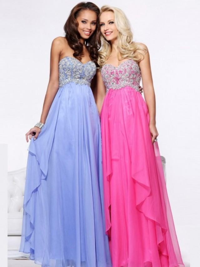 wedding photo - Cute Strapless Prom Dress With Draped Skirt