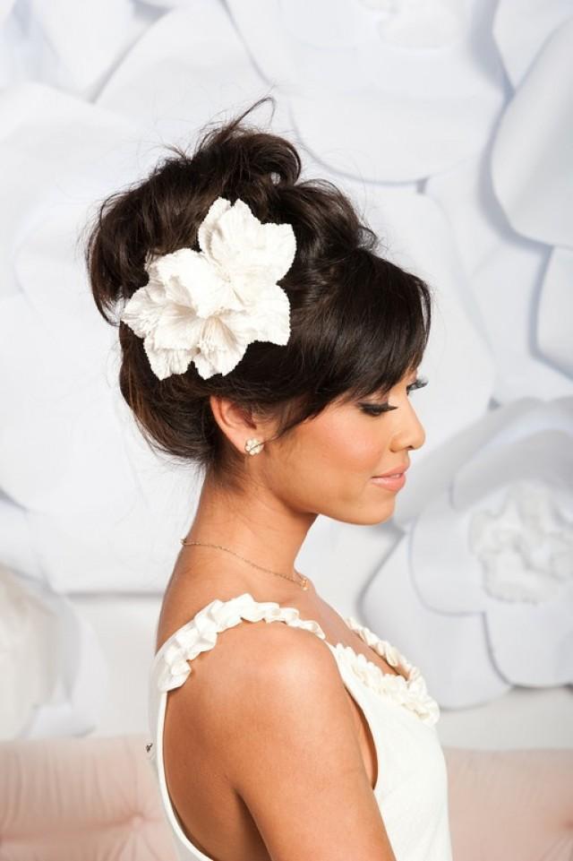 Свадебные причёски на тёмные волосы