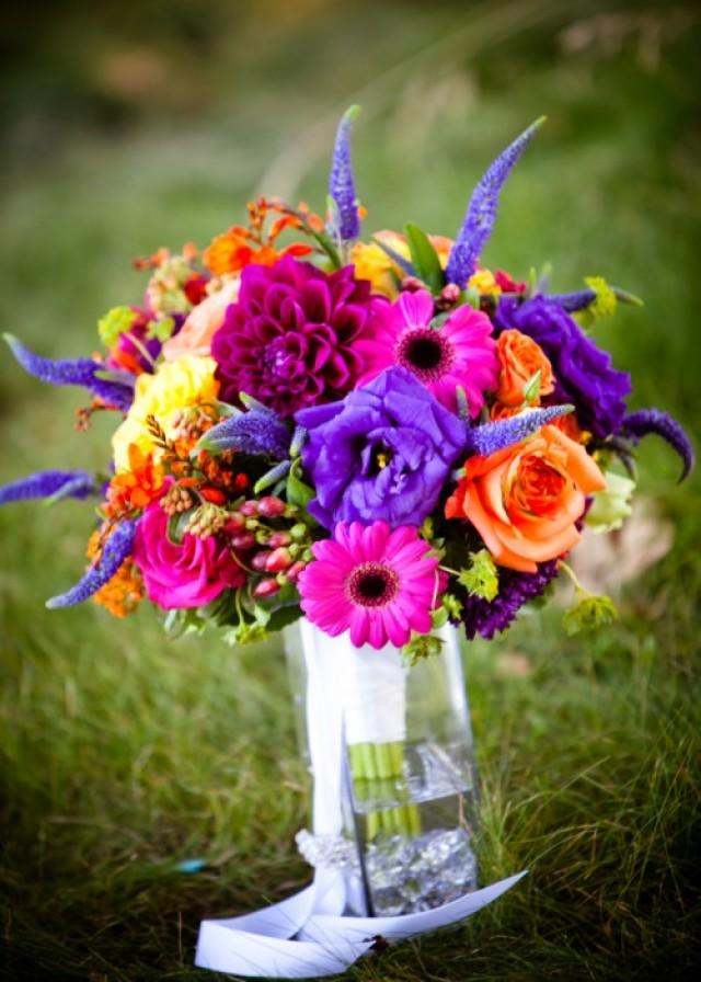 Wedding nail designs bridal bouquets bright and bold for Bright wedding bouquet
