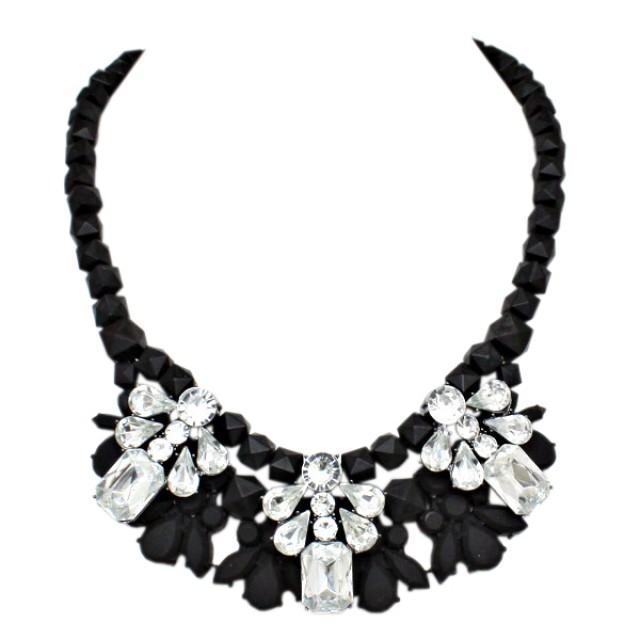 black wedding black white glam necklace 2084474