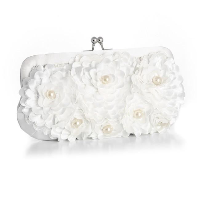 wedding photo - Floral Purse with Pearl Accents