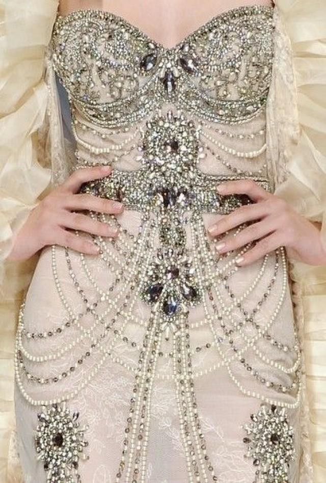 Украсить платье камнями своими руками