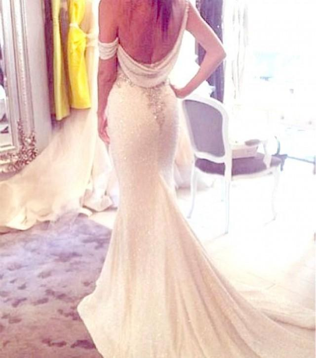 Backless dresses backless wedding gowns 2087430 weddbook for Backless wedding dress bra