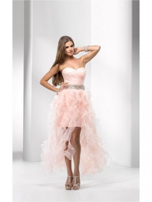 wedding photo - Sleeveless Ball Gown Asymmetrical Sweetheart Chiffon Dress