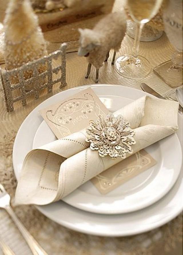 Wedding Napkins Folded Napkins 2090481 Weddbook