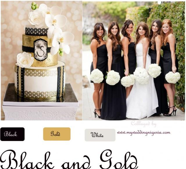 Black And Gold Wedding Color Palette - Weddbook