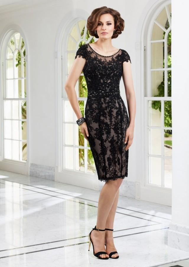 wedding photo - Lace Over Satin Dress And Stole Mother Of The Bride Dresses(HM0685)
