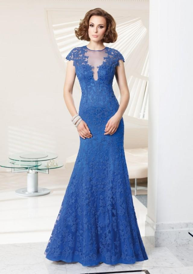 wedding photo - Lace Over Satin Dress Mother Of The Bride Dresses(HM0683)