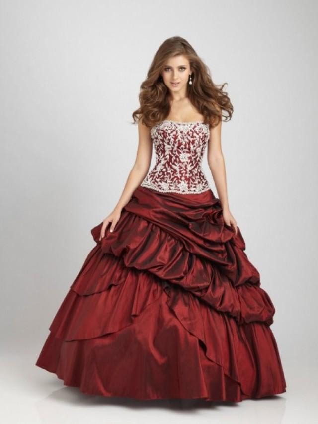 wedding photo - Ball Gown Strapless Floor-length Taffeta Sleeveless Quinceanera Dresses