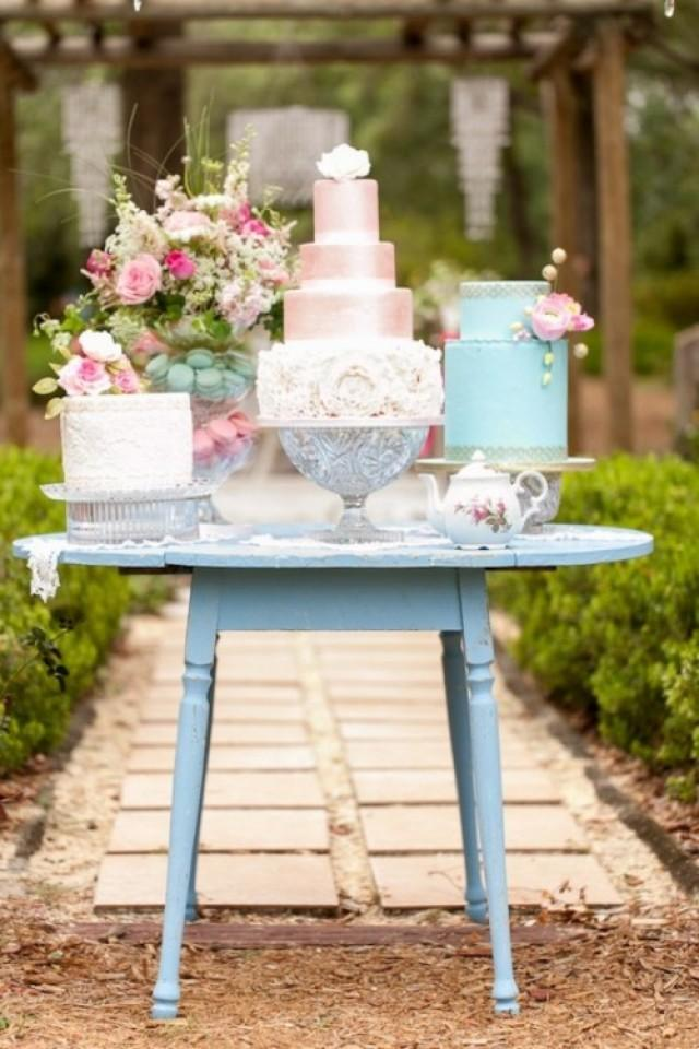 wedding photo - How To Display Multiple Wedding Cakes: 27 Amazing Ideas