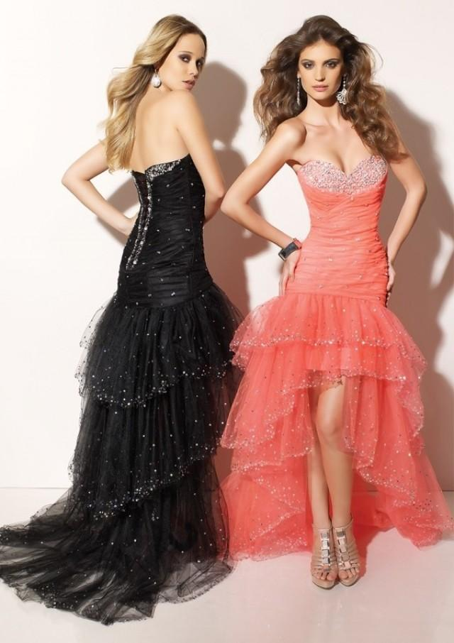 wedding photo - Flame Beaded Hi-low Designed Sweetheart Prom Dress PD1065