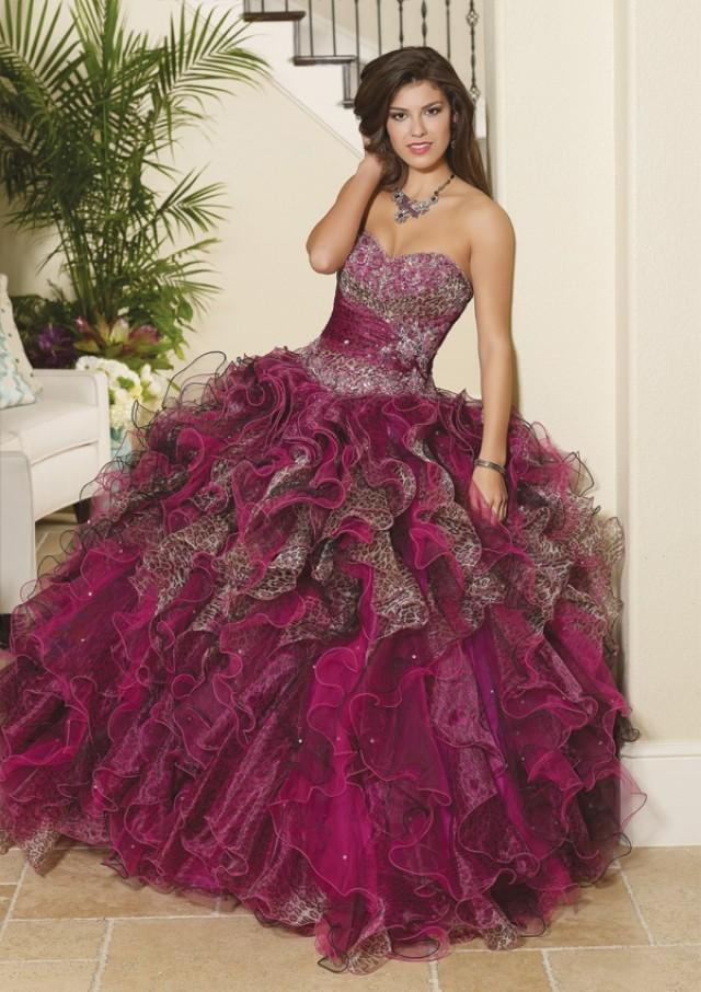 wedding photo - Printed Organza And Tulle With Beading Bridesmaids Dresses(HM0578)