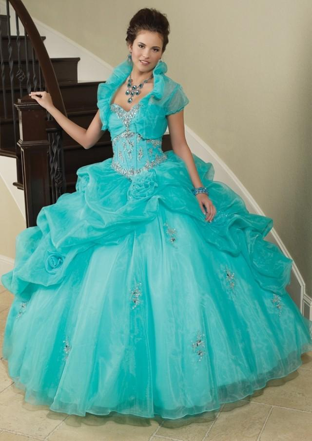 wedding photo - Organza With Beading Bridesmaids Dresses(HM0577)