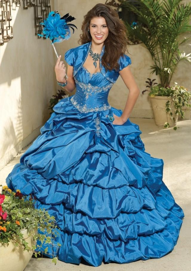 wedding photo - Silky Taffeta With Embroidery And Beading Bridesmaids Dresses(HM0576)