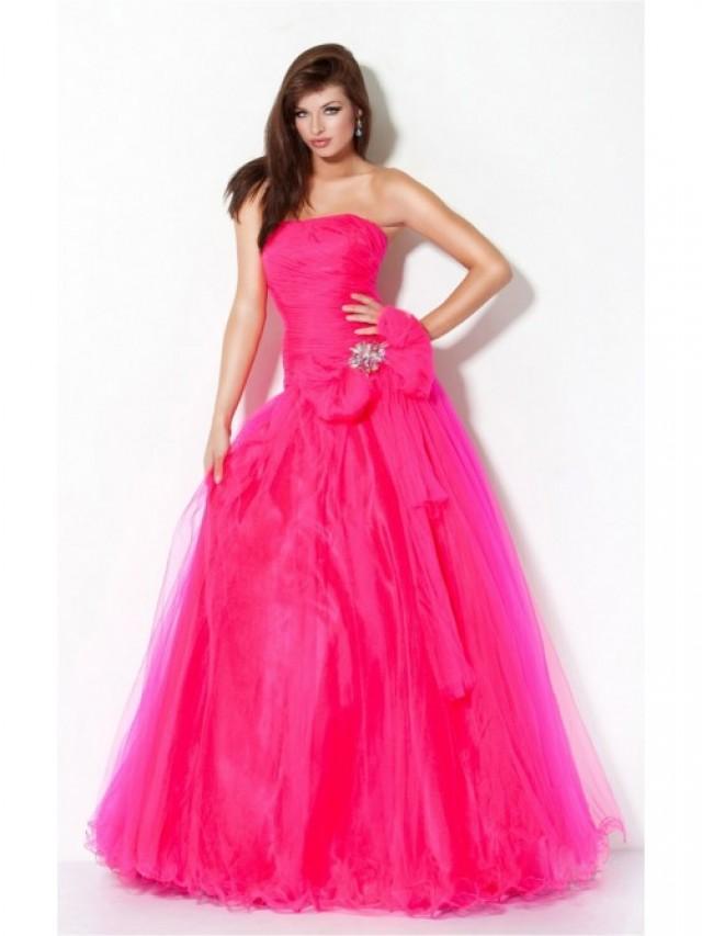 wedding photo - Red Sheath Floor-length Strapless Dress