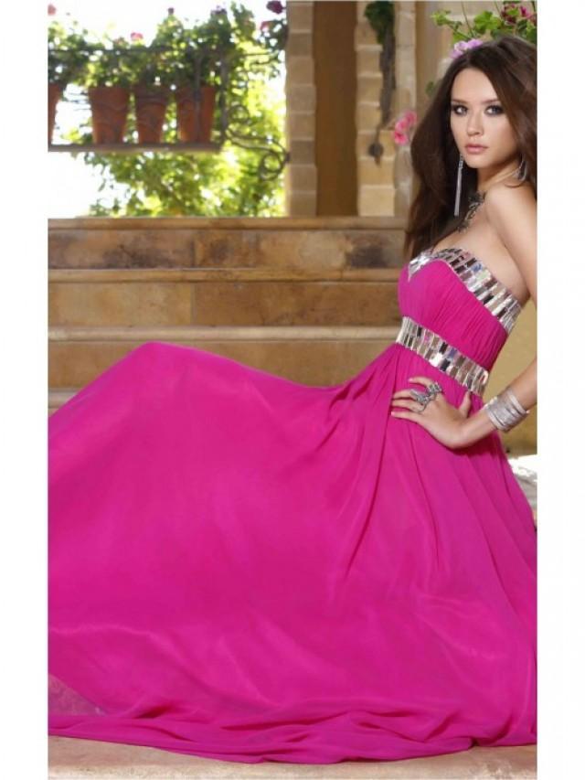 wedding photo - Stunning Fuchsia Sheath Floor-length Sweetheart Dress
