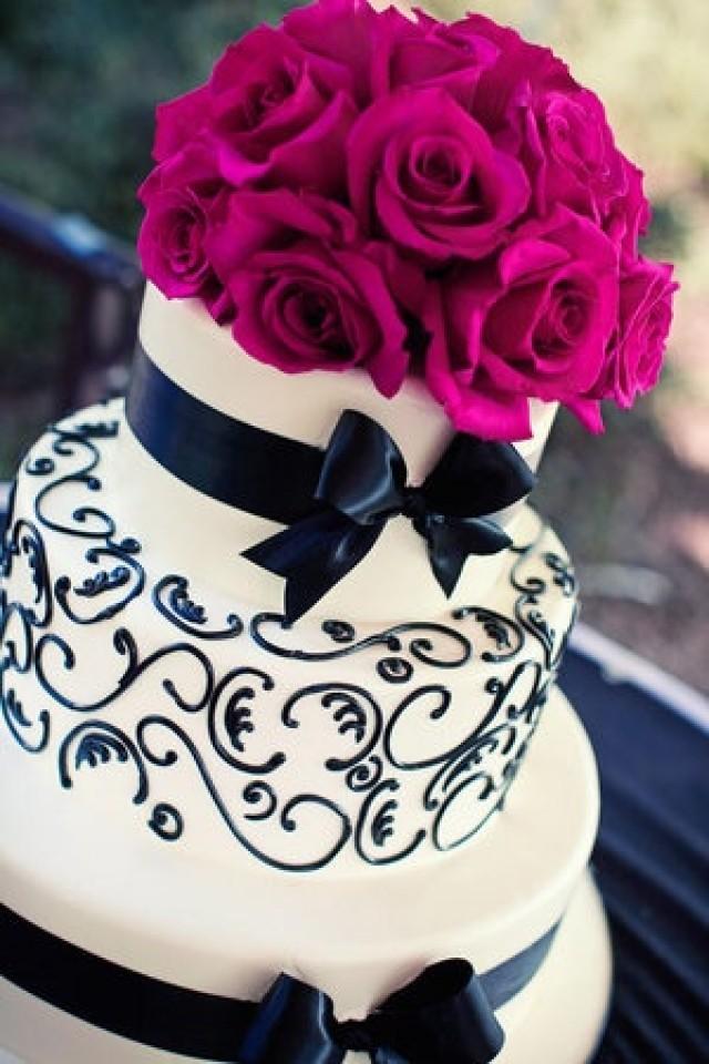 Purple Rose Cake Topper