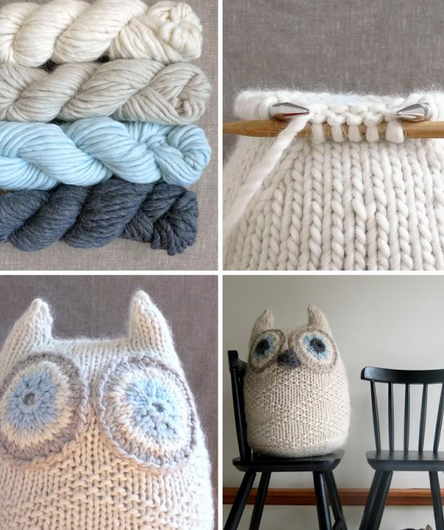 Snowy Owl Knitting Pattern : Knitted Snowy Owl - Weddbook