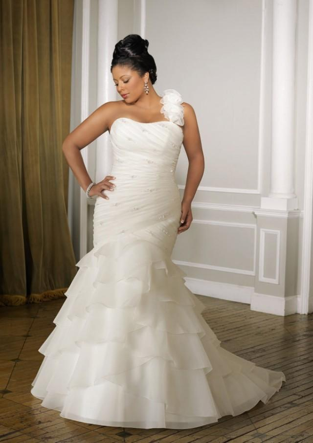 wedding photo - Organza With Beading Wedding Dresses(HM0236)