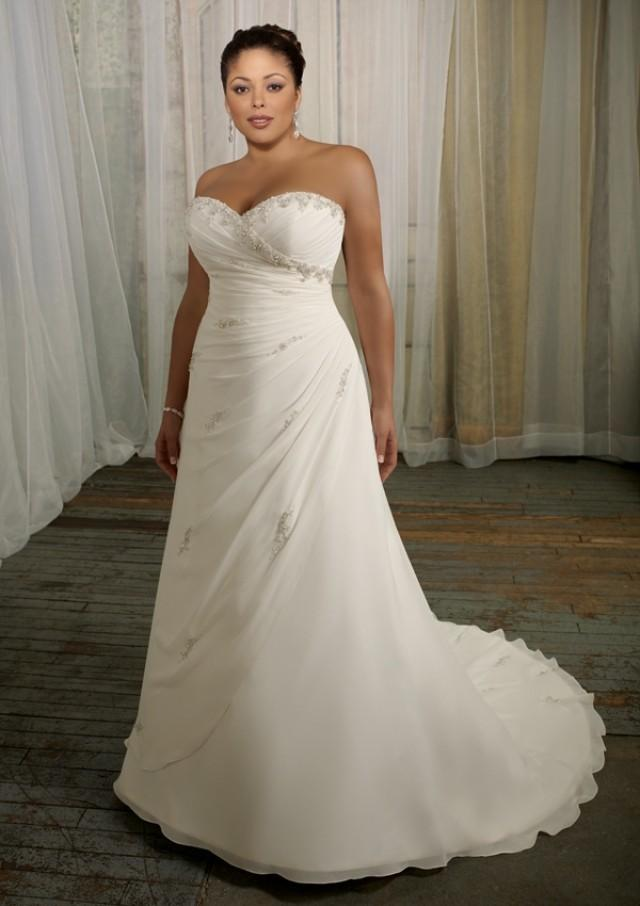 wedding photo - Delicate Chiffon With Beading Wedding Dresses(HM0235)