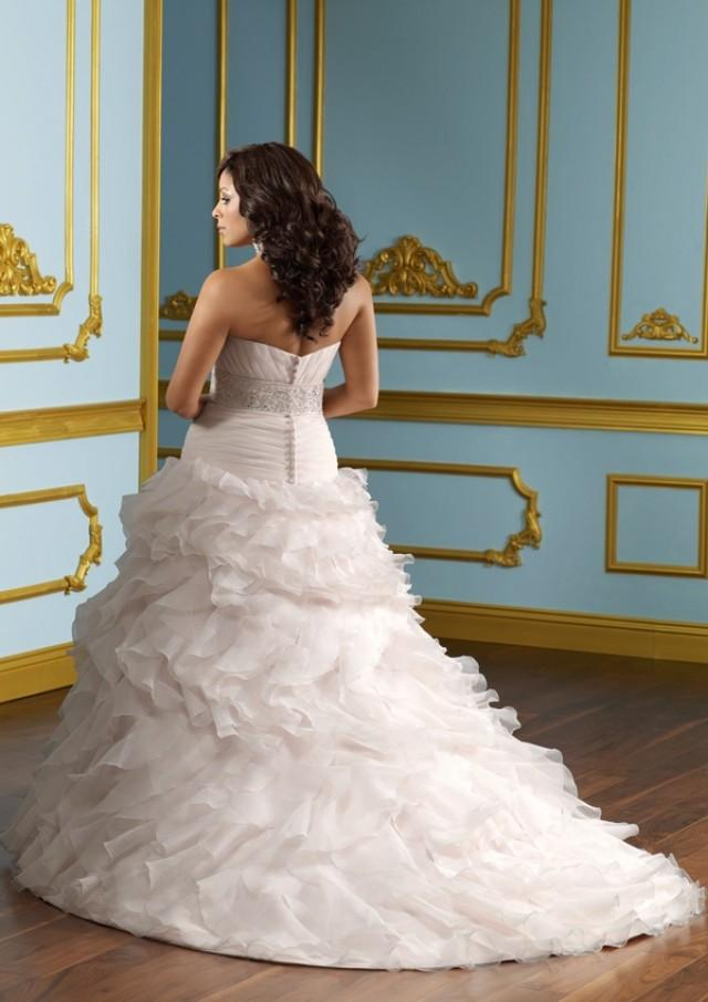 wedding photo - Lustrous Satin With Embroidery Wedding Dresses(HM0233)