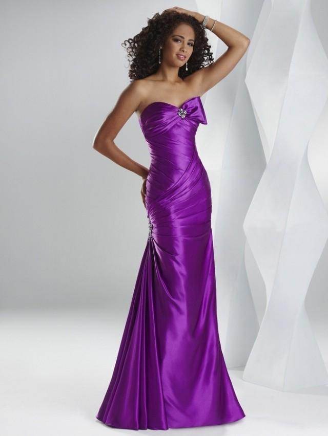wedding photo - Sheath Sweetheart Floor-length Satin Sleeveless Prom Dress PD0034